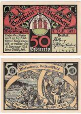 Germany 50 Pfennig 1921 Notgeld Wesenberg UNC Banknote