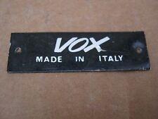 60's VOX GUITAR CASE BADGE