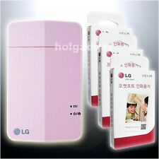 LG PD251 Pink Pocket Photo Printer for Smartphone iPhone Android + 90 Sheets