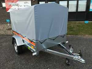 New Car Trailer Single Axle 6,7 ft x 3,6 ft 750 kg with canvas cover H 80cm