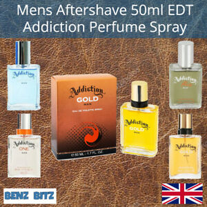 Mens Aftershave Addiction One Man Gold Man Rio Man Savage Man 50ml EDT Spray