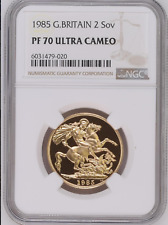 1985 Double £2 Gold Proof Sovereign Coin NGC PF70 Ultra Cameo Royal Mint