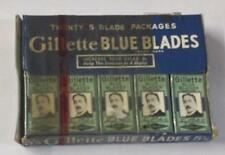 100 Vintage gillette Safety Razor BLUE Blades double edge store display shaving