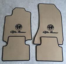 Autoteppich Fußmatten für Alfa Romeo 159  Beige schwarz Velours 4teilig Neuware