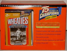 BABE RUTH New York Yankees 24k GOLD Signature Ed 75th Anniver Wheaties Mini Box