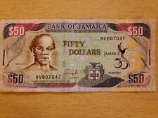 Jamaica, Fifty 50 Dollars, 2012 Paper Currency Banknote circulated