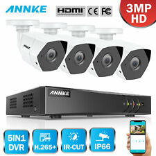 ANNKE CCTV 3MP Metal Camera System H.265+ 5IN1 4CH DVR Security Kit IP66 Email