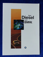 BMW Diesel Motoren - 325 525 725 tds E36 E34 E38 E39 - Prospekt Brochure 01.1996