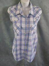 Rockies Sleeveless Western Blouse Size XL NWT Plaid