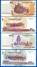 Cambodia  P-52 & P-53 Uncirculated Banknotes 50/100 Riels Set # 6