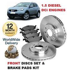 Pour Nissan Qashqai 1.5 TD DCI 2006-2014 nouveau disques de frein avant set & disque pad kit