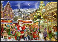 Christmas Carousel - Chart Counted Cross Stitch Pattern Needlework Xstitch craft