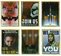 Star Wars - Galaxy 2018 - Trilogy Propaganda - Complete 6 Card Chase SET - NM