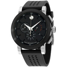"""Movado Men's 0606545 """"""""Museum"""""""" Perforated Black-Rubber Strap Sport Watch"""