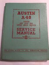 Austin A40 OEM FACTORY WORKSHOP Service Manual GS2 G2S2 GS3 GV2/3 GP GQU2/3 1954