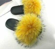 Soft Flip Flops Furry Slippers Ladies Slip On Indoor Beach Fashionable Footwear