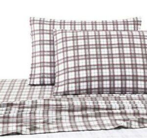 UGG Cotton Flannel 4-Piece King Sheet Set in Cabernet Plaid