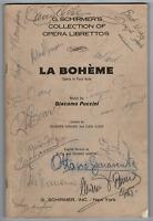 Vintage La Boheme Opera cast signed autographed program! RARE AMCo Authenticated