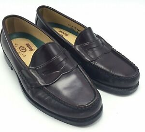 Dexter 10 M Mens Penny Loafers Leather Shoes Handsewn Brown Made USA Quality