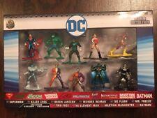 Jada Die Cast Nano MetalFigs DC Comic Figures 10 Pack Collector's Set: Superman,