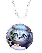 Alice au pays des merveilles résine Cheshire Cat collier pendentif