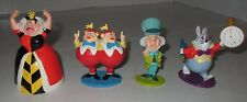 Disney Store Alice In Wonderland Figures 4 Piece Set Nice Used Lot Plastic Toppe