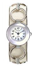 Pedre Women's Silver-Tone White Horse-Bit Bangle Watch 3313SX. New and unworn.