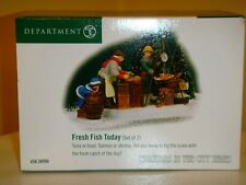 """Department 56 Christmas In The City """"Fresh Fish Today"""" 58996 Mint"""