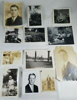 Lot of 12 Vintage Collectible Photos of Individuals from the 40's 50's 60's B&W