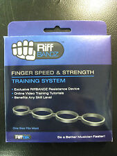 Guitar Rift Bands Finger Weights 3 Pack - Strengthen & Shred Faster - Riff Bandz