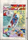1983 Captain America Annual 7 page 12 Marvel Comics color guide art: 1980's
