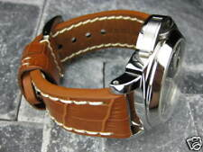 BIG GATOR 24mm LEATHER STRAP Honey Brown Tang Watch Band Pam 1950  24 F