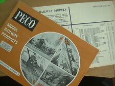 PECO 1973 MODEL RAILWAY CATALOGUE AND PRICE LIST