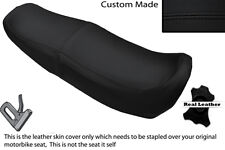 Negro Stitch personalizado se adapta a Honda Ns 125 F n doble de piel cubierta de asiento solamente