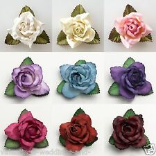 Large 50mm Roses - Mulberry Paper Flowers - Wedding Headband Decoration Craft