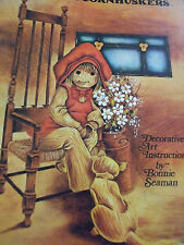 """TOLE PAINTING CRAFT BOOK """"LOVABLE CORNHUSKERS"""" UNUSED PATTERNS  GREAT CONDITION"""