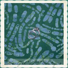 BonEful Fabric FQ Cotton Quilt  Green Blue Batik Log Cabin Hunt Men Calico Water