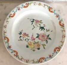Belle assiette porcelaine de CHINE XVIIIe 18TH Compagnie des Indes (Accidents)