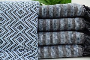 Baby Blue Towel, Organic Towel, Handwoven Towel, Original 40x70 inch Iso-AtlCgl