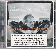 """CD ALBUM MAXIME LE FORESTIER """"CHIENNE DE ROUTE"""" (NEUF SCELLE)"""
