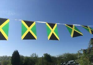 Jamaica Jamaican Fabric Bunting various lengths Free 1st Class Post