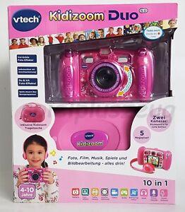 Vtech Kidizoom Duo mit Kopfhörer Tasche Kinder Kamera 10 in 1 Pink Rosa NEU