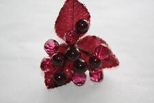 1 x rosso bordeaux Berry & Crystal PICK CABLATO STELI NATALE Craft