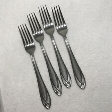 New listing Hampton Silversmith stainless flatware stainless Lace Frosted Set 4 Dinner Forks