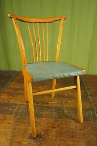 50er Vintage Dining Room Chair Kitchen Rockabilly Sprossenstuhl Retro Blue 3