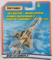 MATCHBOX SKY BUSTERS - MIG 21 FIGHTER JET IN CAMO - MATTEL WHEELS 2000 - NEW