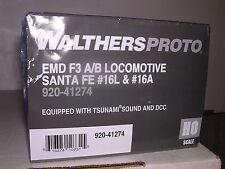 """WALTH/PR #920-41275 Santa Fe """"WarBonnet"""" F-3A&B Diesel Locos #16B & 16C H.O."""