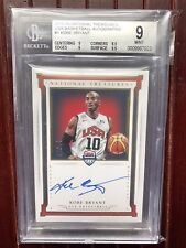 2015 National Treasures USA Auto Kobe Bryant 10/25 Jersey # BGS 9 10 1/1