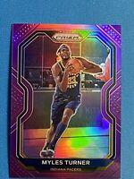 2020-21 Panini Prizm Basketball NBA Myles Turner Purple Holo Prizm /99 Pacers