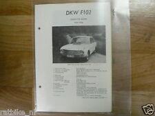 DK4-DKW TYPEN F102 COACH EN SEDAN 1964-1966 -INFO